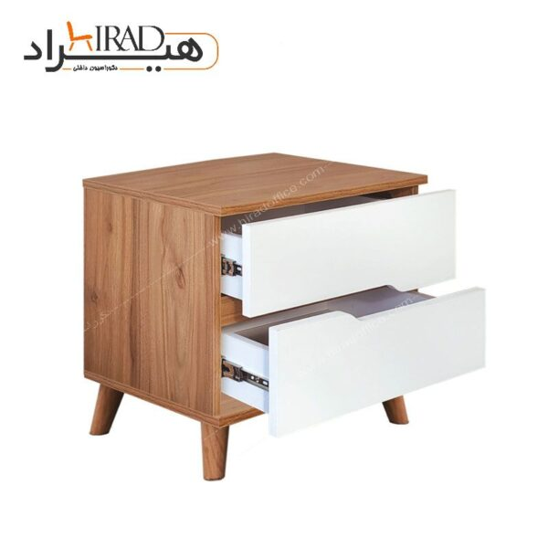 میز پاتختی هیراد مدل لوکا کد JP-2K-SG03